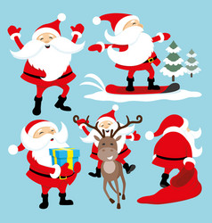 Set of santa clauses vector