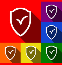 shield sign as protection and insurance symbol vector image