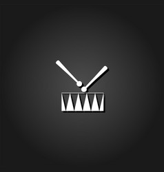 snare drum icon flat vector image