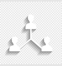 Social media marketing sign white icon vector