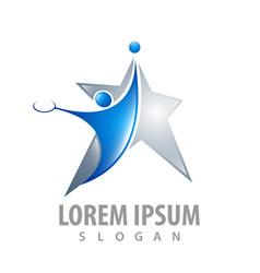 star tennis athlete concept design symbol graphic vector image