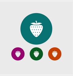 strawberry icon simple fruit vector image