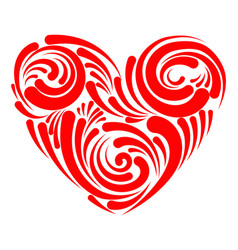 stylized heart for lovers day heart with patterns vector image