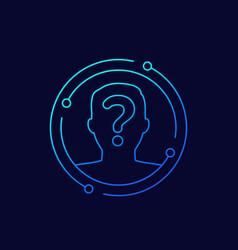 Unknown person user icon line vector