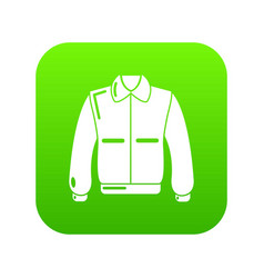 varsity jacket icon green vector image