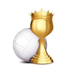 volleyball award volleyball ball golden vector image