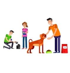 Volunteers design concept vector image