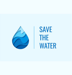 water drop logo design template vector image