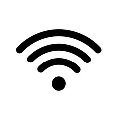 wifi technology symbol wireless and wifi icon vector image vector image