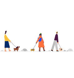 with people on a walk with a vector image