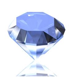 Blue diamond vector image