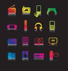 electronic gadgets vector image vector image