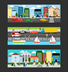 modern cityscape set in industrial megapolis vector image vector image