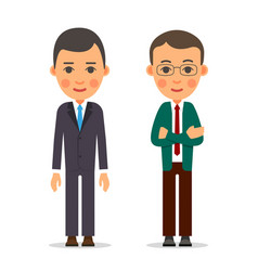 young business man businessman stands with vector image vector image