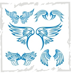 Wings Set Vinyl-ready vector image vector image