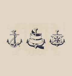 anchor collection vector image