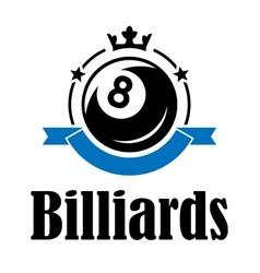 Billiards and pool emblem vector image