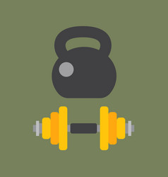 dumbbells stack lined up rack with metal chrome vector image vector image