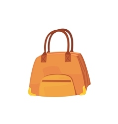 Female brown leather handbag item from baggage bag vector