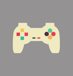 joystick isolated retro gamepad vintage video vector image