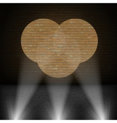 Lanterns Beam on Brick Wall vector image
