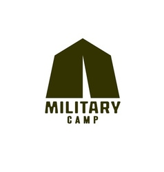 military tent icon vector image