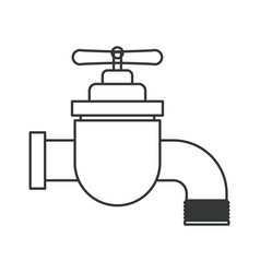 Monochrome silhouette of faucet icon vector