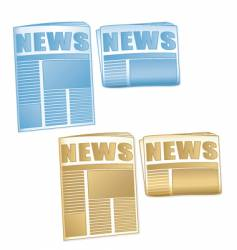 newspaper icons vector image