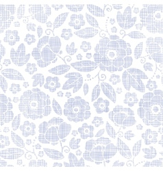 Purple textile flowers texture seamless pattern vector
