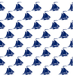 sailing vessel seamless pattern vector image