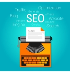 seo content marketing strategy concept search vector image vector image