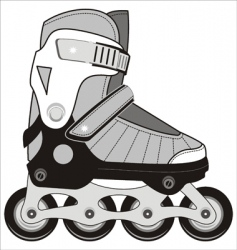 sports roller skates vector image