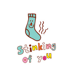 stinking of you vector image vector image