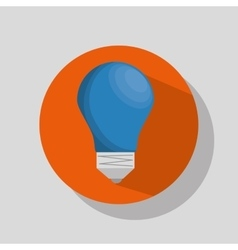 blue bulb light vector image