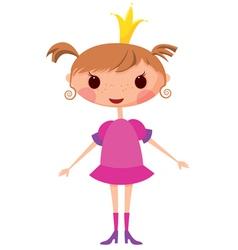 cartoon princess vector image