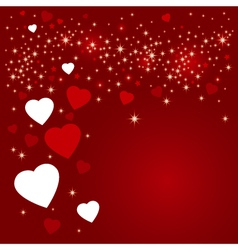 Hearts background design vector image vector image