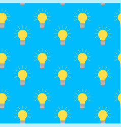 lamp bulb idea seamless pattern vector image vector image