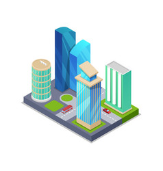 modern city real estate isometric 3d icon vector image