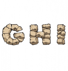 stone Alphabet ghi vector image vector image