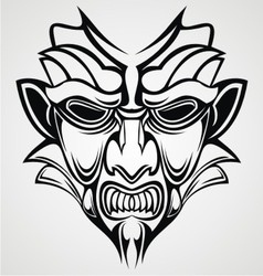 Tribal Traditional Mask vector image vector image
