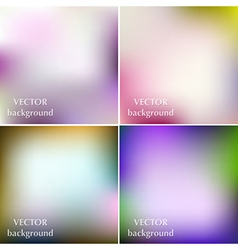 Abstract colorful blurred smooth spring background vector image