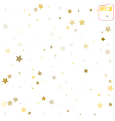 abstract pattern of random falling gold stars on vector image