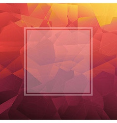 Abstract Triangle Background With Banner vector