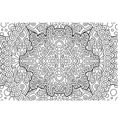 art for coloring book page with linear pattern vector image