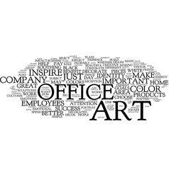 art for the successful office text background vector image