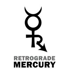 Astrology retrograde mercury vector