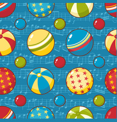 Balls childs toy seamless pattern vector