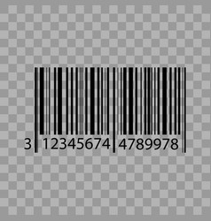 barcode isolated on transparent background vector image