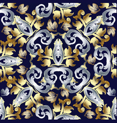 baroque seamless pattern vintage floral vector image