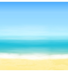 Beach and blue sea vector